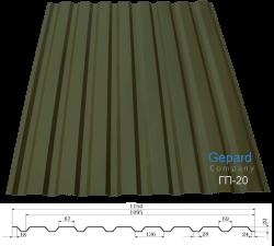 Профнастил для крыши Фото Металлопрофиль ГП-20 компании «Гепард» Винница