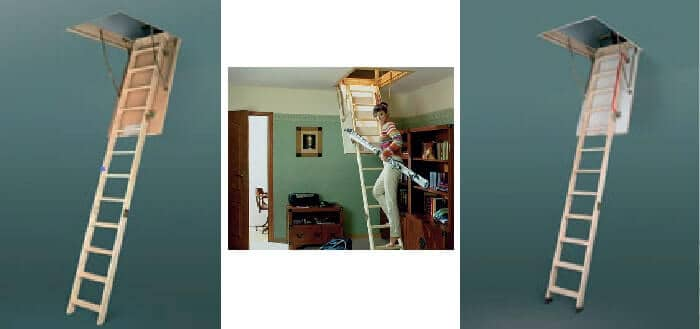Фото Чердачные лестницы FAKRO от производителя металлочерепицы «ГЕПАРД» Винница