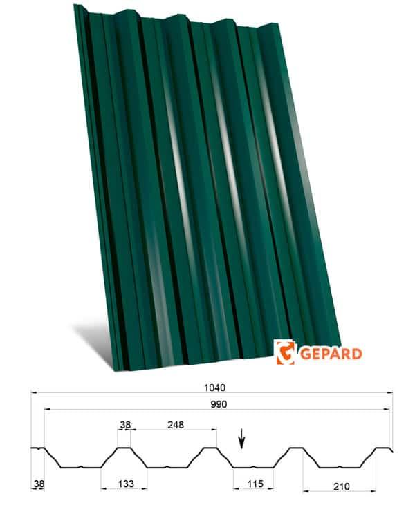 Металлопрофиль ГП-57 Д компании «Гепард» Винница Фото