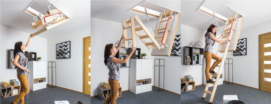 Лестница на чердак Фото. Купить лестницу на чердак в Виннице