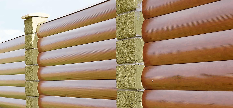 Металлический сайдинг под бревно и под брус в Виннице от завода гепард Фото